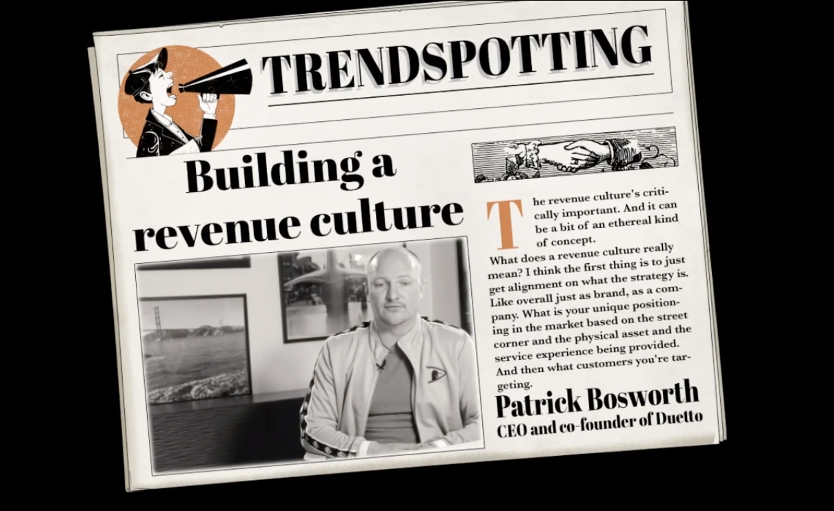Trend Spotting: Building a Revenue Culture